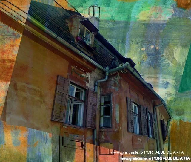 Casa veche la Sighisoara, de Nicu Ilie