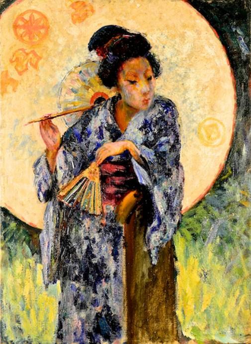 Japoneza cu umbreluta