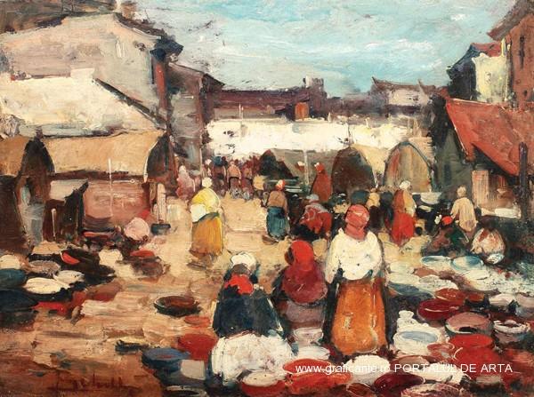 "Jean Cheller, ""Targ de oale"", adjudecat: 6.000 euro, Artmark 2013"