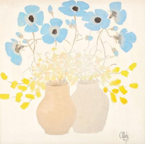 "Constantin Piliuta, ""Albastrele"", adjudecat: 4.250 euro, Artmark, 2013"