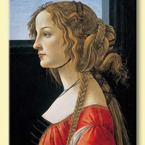 Portretul unei tinere, tablou de Botticelli, reproducere canvas 60 x 80 cm