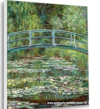 The Japanese Bridge (varianta New York) de Claude Monet, reproducere canvas 80 x 100 cm
