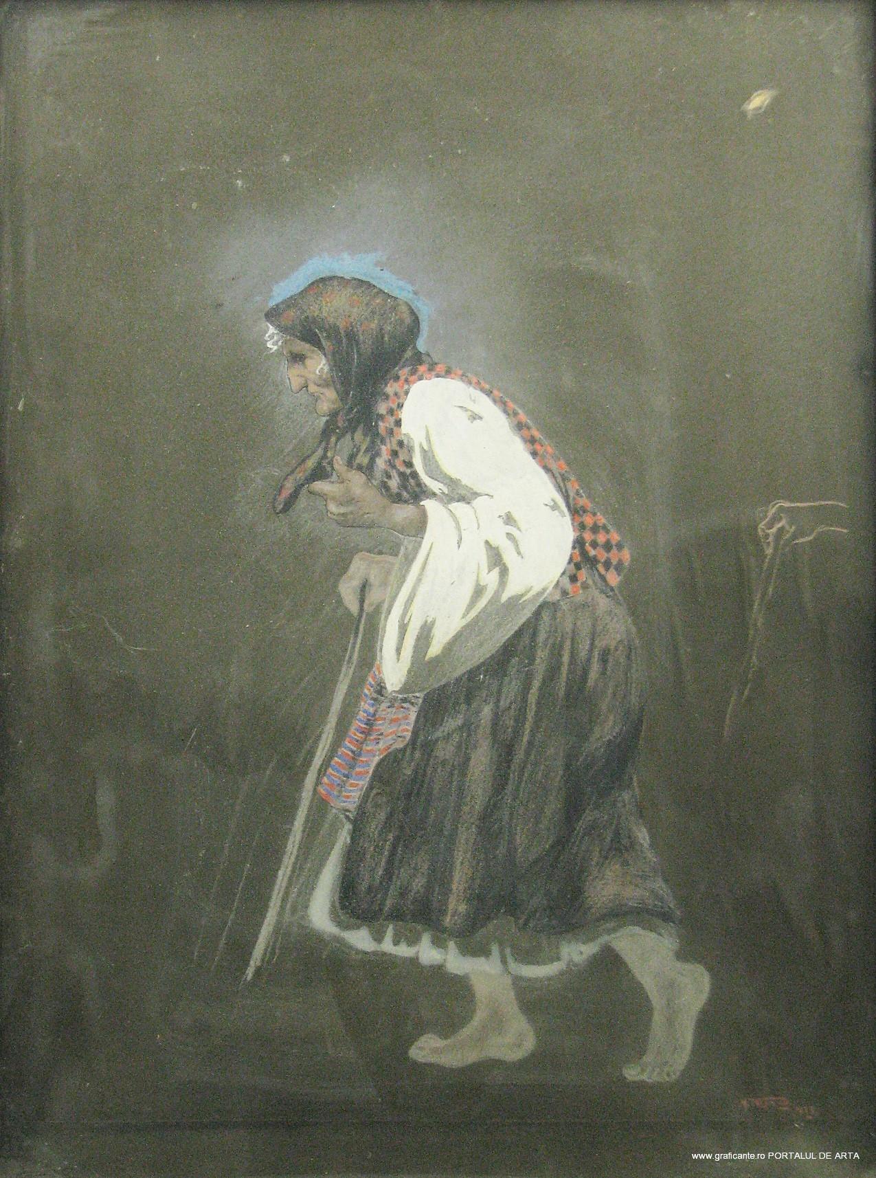 Misu Teisanu, batrana cu toiag, estimare: 450-650 euro, Alis 2014, (c) alis.ro