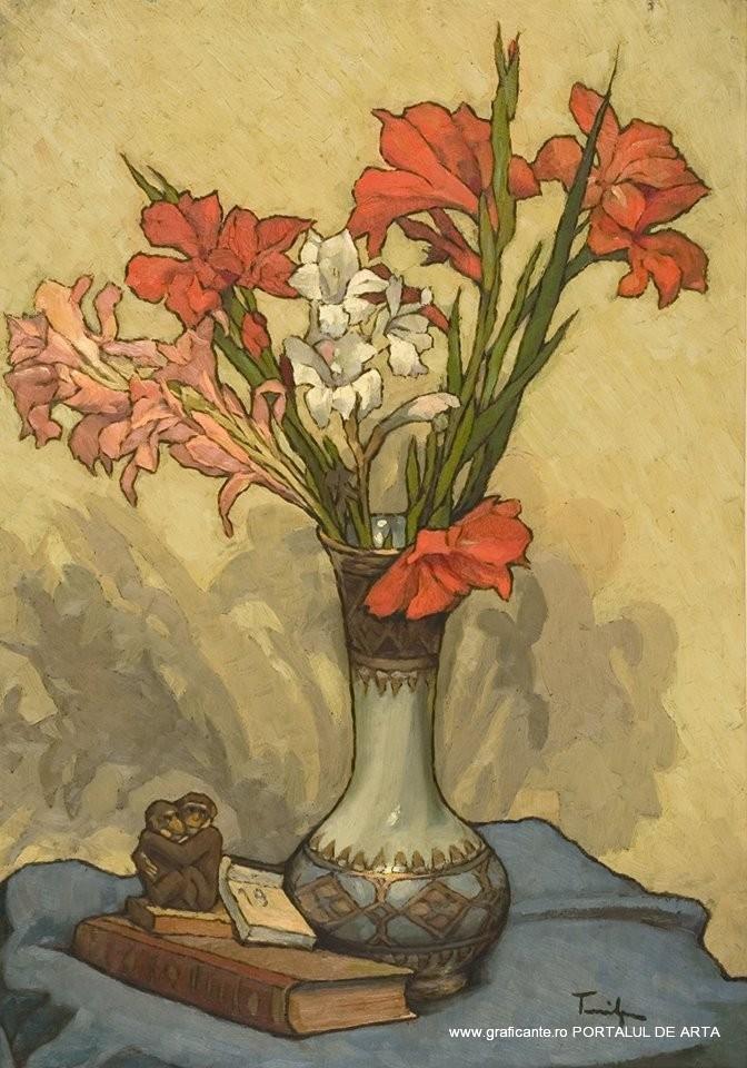 """Nicolae Tonitza, """"Gladiole"""", 75.000 de euro la Grimberg in decembrie 2013"""