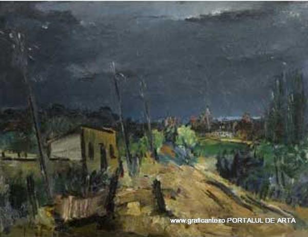 Gh. Vânătoru, Peisaj in furtuna, adjudecat: 2.800 euro, Grimberg, 2014, (c)grimberg.ro
