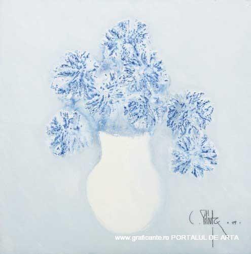 Constantin Piliuta, Flori Albastre, adjudecat: 9.500 euro, Artmark, 2014, (c)artmark.ro