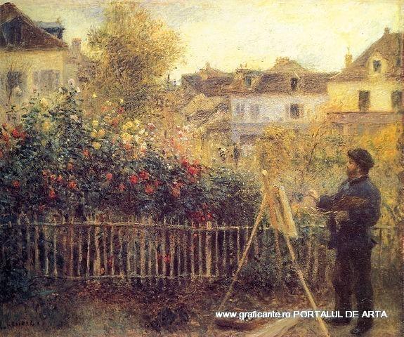 Auguste Renoir - Pictorul Claude Monet in grădina Argenteuil