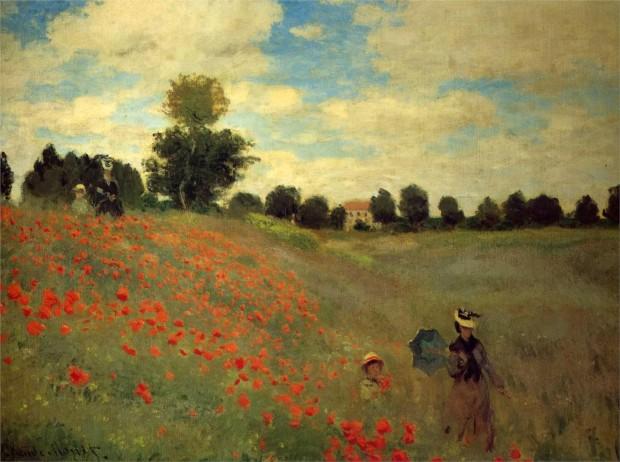 Claude Monet - Câmp cu maci