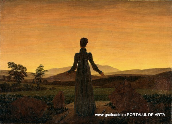 femeie-in-rasarit-de-soare-Friedrich