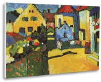 """Murnau, Grüngasse"", tablou de Vassily Kandinsky, reproducere canvas 50 x 35 cm"