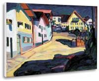 """Murnau, Burggrabenstrasse 1"", tablou de Vassily Kandinsky, reproducere canvas 40 x 30 cm"